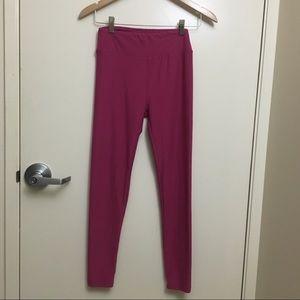 Lularoe Solid Color leggings red plum